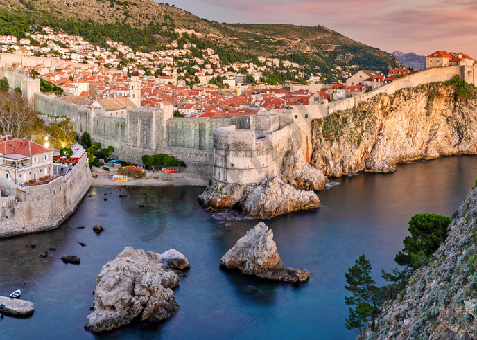 Art Print Dubrovnik Croatia Walled City