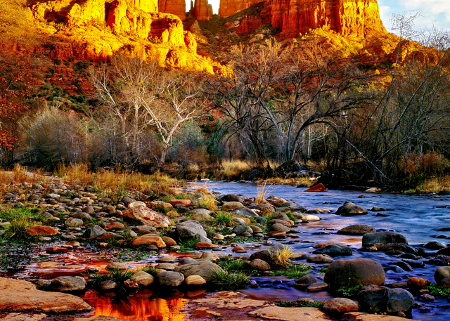 Art Print Cathedral Rock Sedona Arizona Deep Reflections