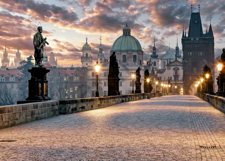 Art Print Charles Bridge Prague Czech Republic Gothic Bridge