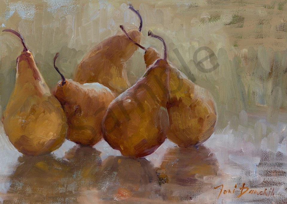 Bosc Pears Sunbathing