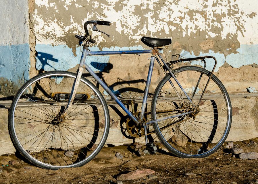 Old bike rustic wall