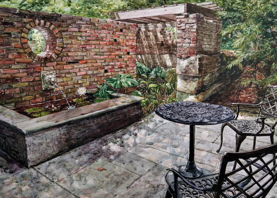 """Inniswood Secret Garden"" by Ohio Artist Jennifer Sowders   Prophetics Gallery"