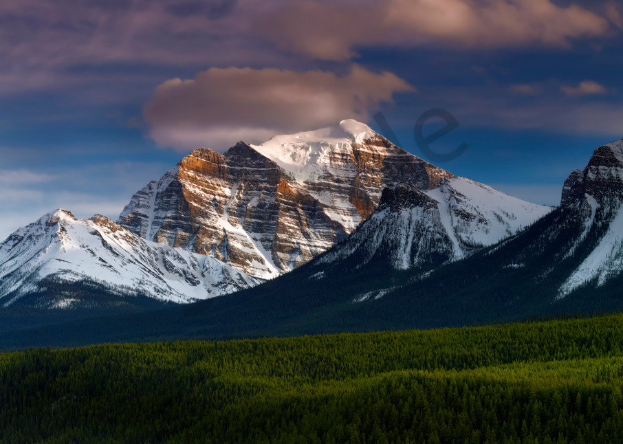 Mt. Temple - North Face Banff National Park. Canadian Rockies|Rocky Mountains|