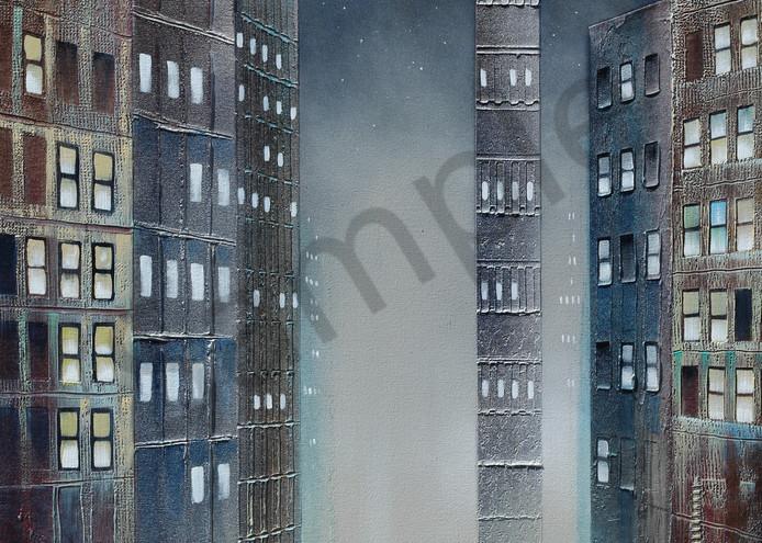 City Moon  Art | John Blowers Art