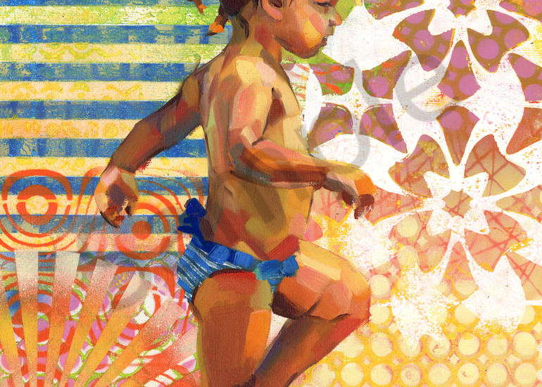 Fine Art Print: Caribbean Beach Scene Iii Art | Bianca Berends