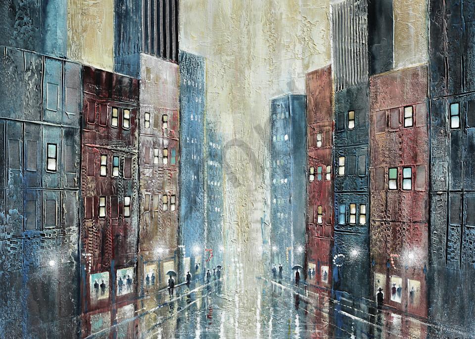 City Rain  Art | John Blowers Art