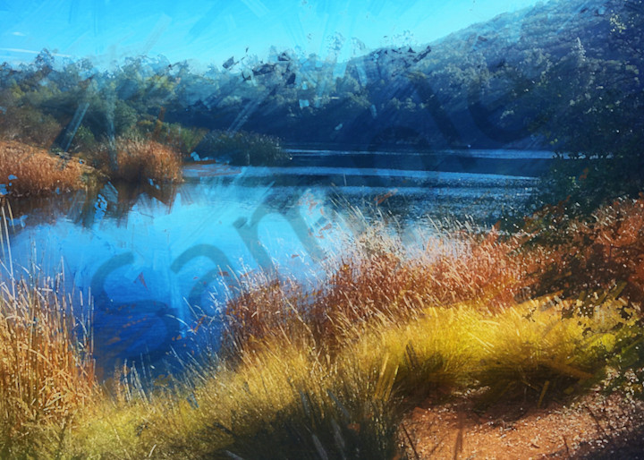 """Dixon Lake Winter Scene"" - digital painting photograph"