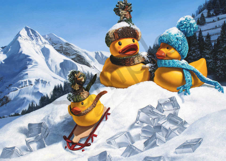 """""""Cold Duck"""" print by Kevin Grass"""