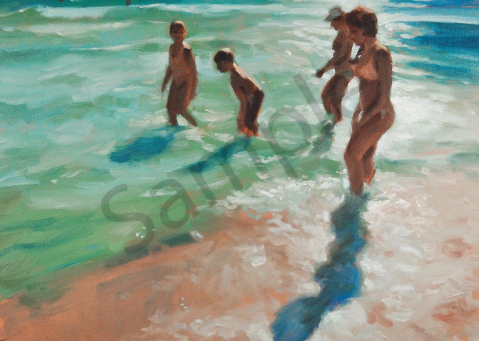 Beach Story Florida (Original And Print Available) Art | Adam Benet Shaw Studios