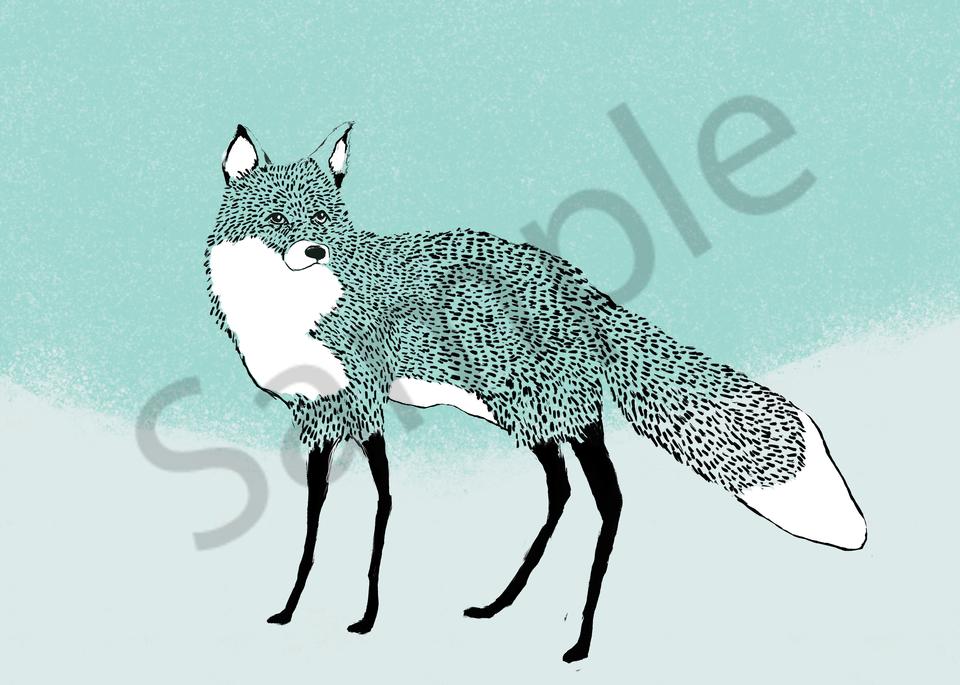 Fox In The Snow Art | Davida Fernandez Studio