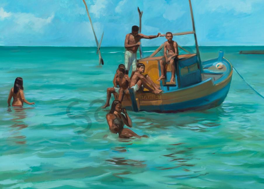 Bahia At Christmas (Original And Print Available) Art   Adam Benet Shaw Studios
