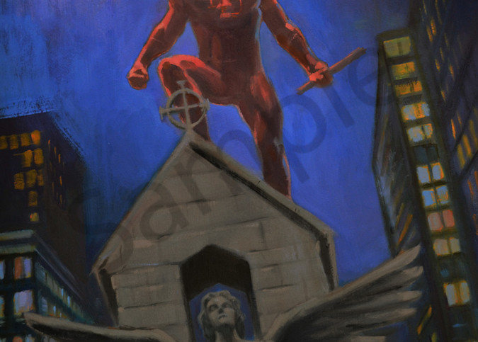Daredevil On A Church Art | Adam Benet Shaw Studios