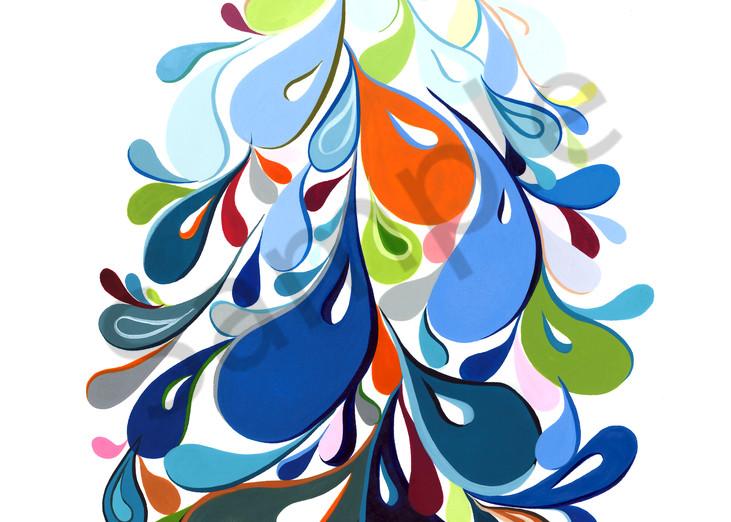 Swirl Egg (Blue) Art | Cynthia Mosser Fine Art