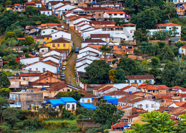 Print Art Ouro Preto Brazil Mining Town
