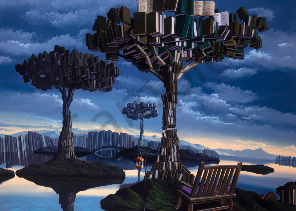 Paradise Of Letters Art   Moshe Volcovich
