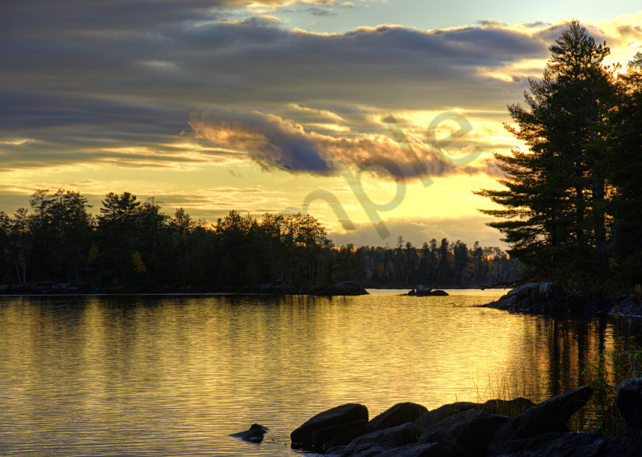 Golden Sunset On A Northern Lake Photography Art | LHR Images