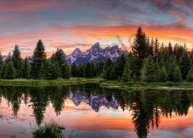 3701 Teton Sunset  Art | Cunningham Gallery