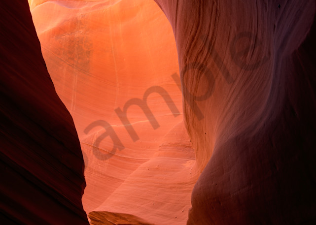 Rocky sculpture in sandstone slot canyon