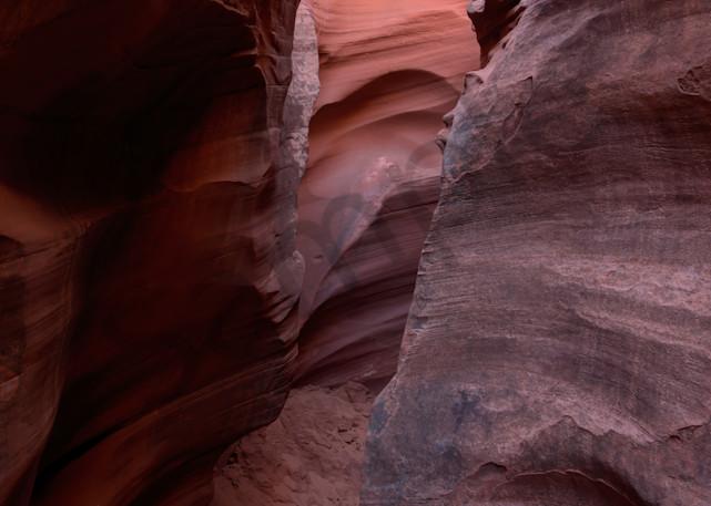 Sandy slot canyon narrow passage