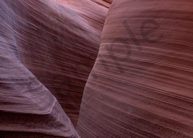 Slot Canyon passage through waves of sand