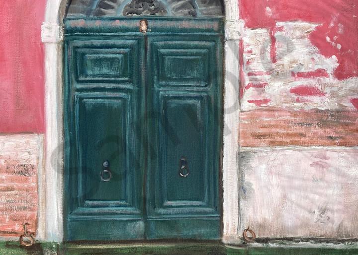 Italian Door Venice Painting