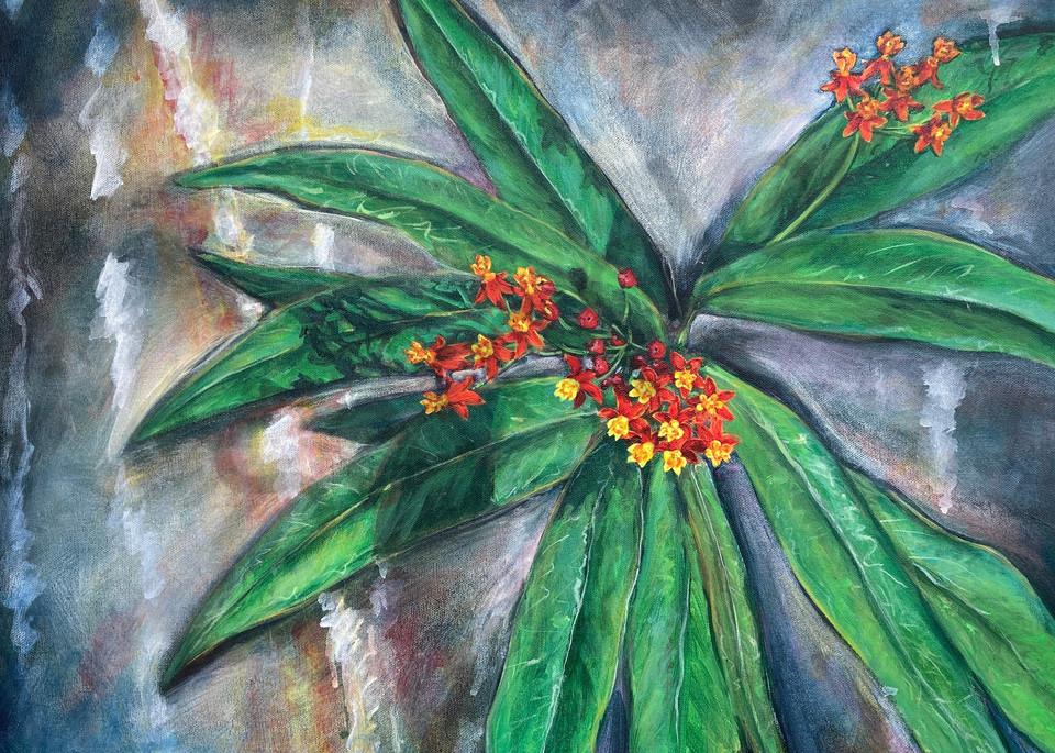 Tropical Milkweed painting fine art prints