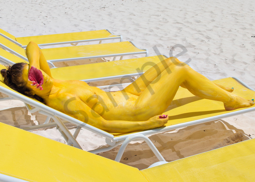2017  Yellow Chairs  Bahamas Art | BODYPAINTOGRAPHY