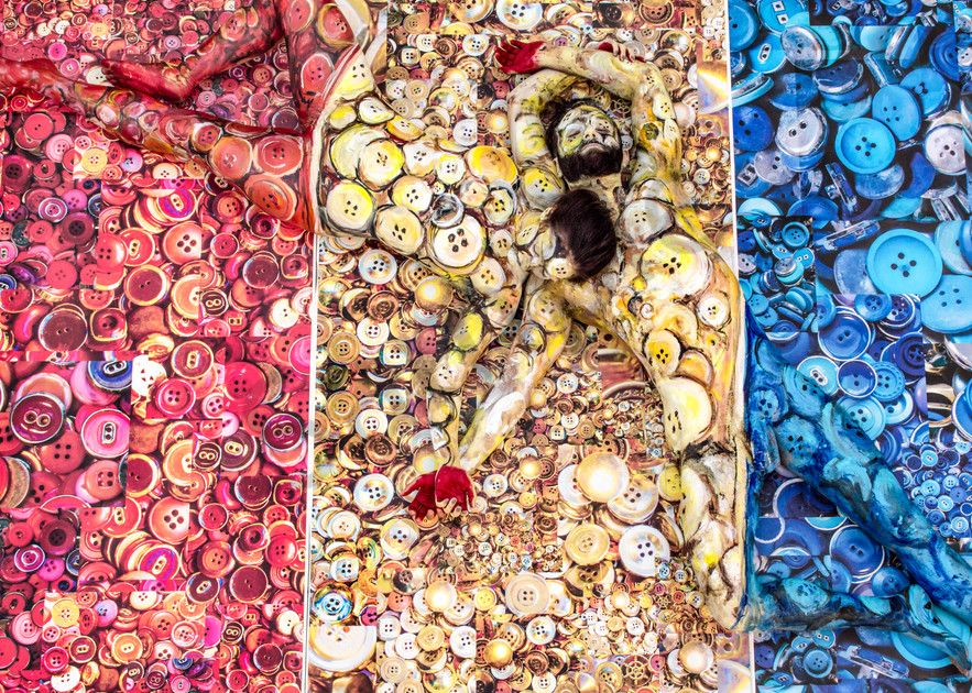 2015  Buttons  New York Art | BODYPAINTOGRAPHY