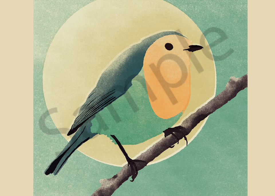 The Bird And The Moon Art | Davida Fernandez Studio