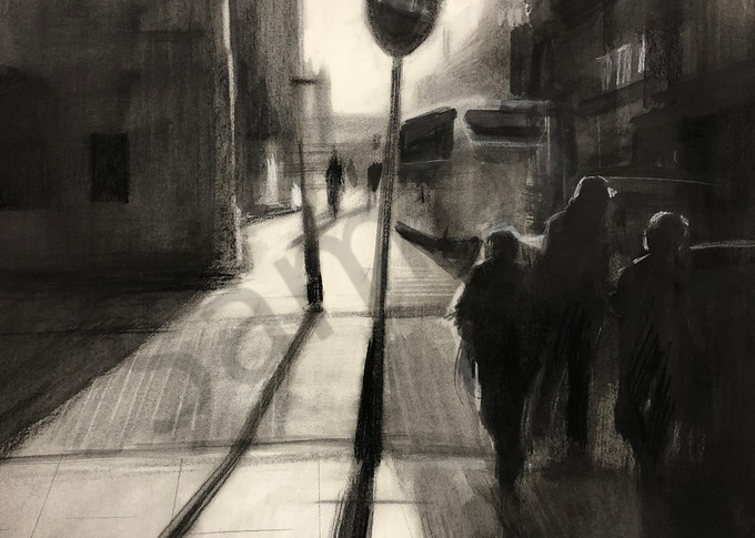 Berlin In The Afternoon (Original Sold) Print Available Art | Adam Benet Shaw Studios