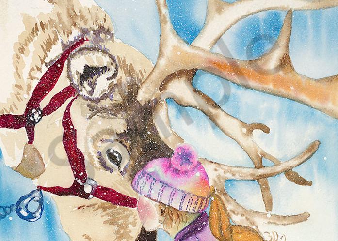 """Christmas Kiss"" fine art print by Kelly Wolske."