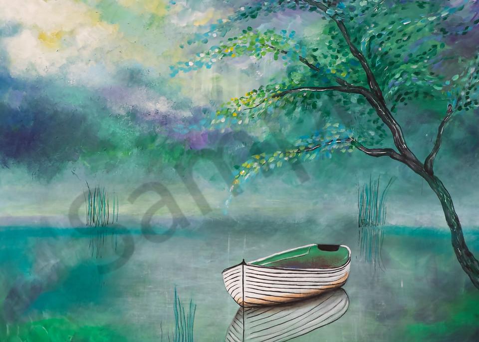 """Lake Boat"" by German Artist Angela Günther | Prophetics Gallery"