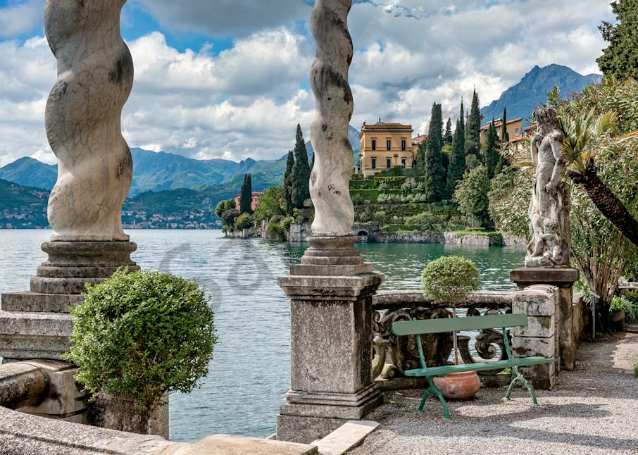 Print Art Varenna Lake Como Italy Lakeside Villa