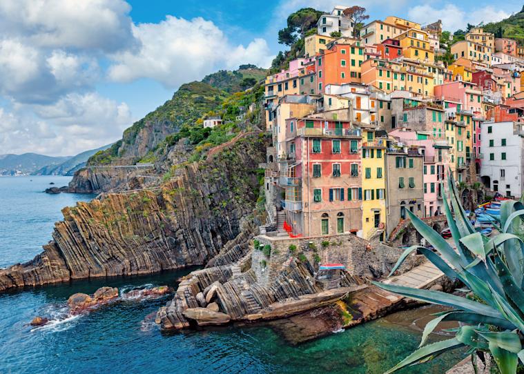 Print Art Riomaggiore Cinque Terre Italy Boat Ramp