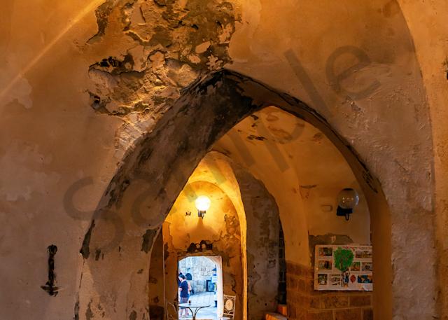 Print Art Jaffa Tel-Aviv Israel Old Harbor Cafe