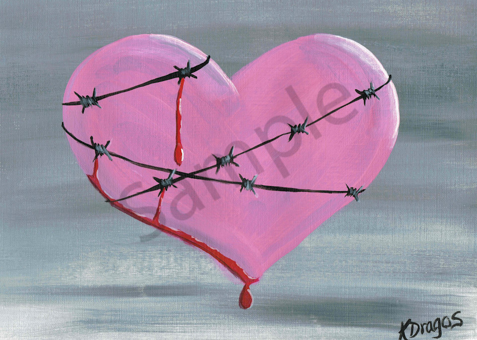 Guarded Heart Acrylic Artwork