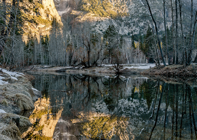 Print Art Yosemite National Park Upper Yosemite Falls