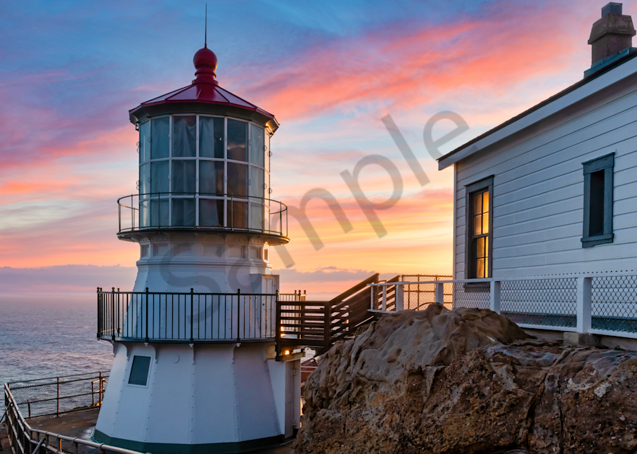 Print Art Point Reyes National Seashore California Point Reyes Lighthouse