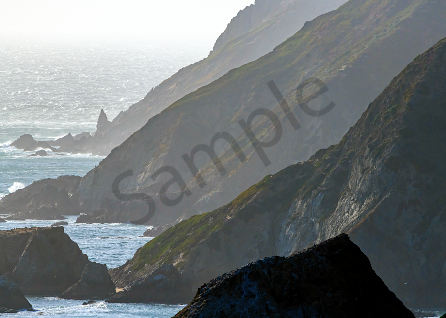 Print Art Point Reyes National Seashore California Rocky Cliffs and Beaches