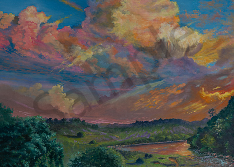 """""""Psalm 23 Heaven On Earth"""" by United Kingdom Artist Yvonne Coombs   Prophetics Gallery"""