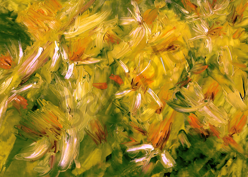 Daffodil Study With Palette Knife En Plein Air   Art | Marie Stephens Art