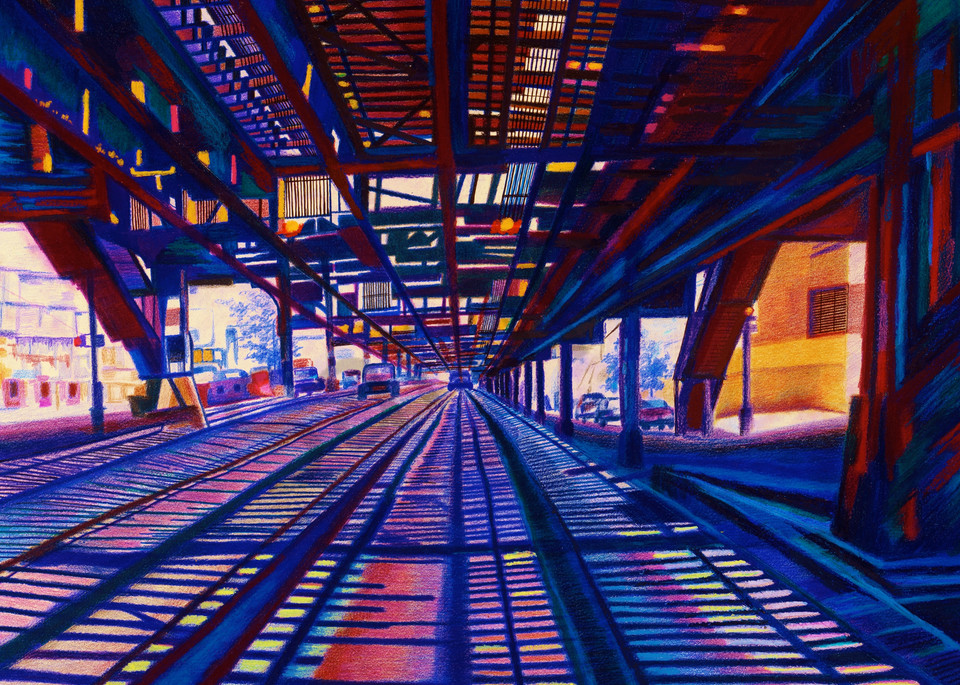 Distant Perspective View At 215 Th St Art | lencicio