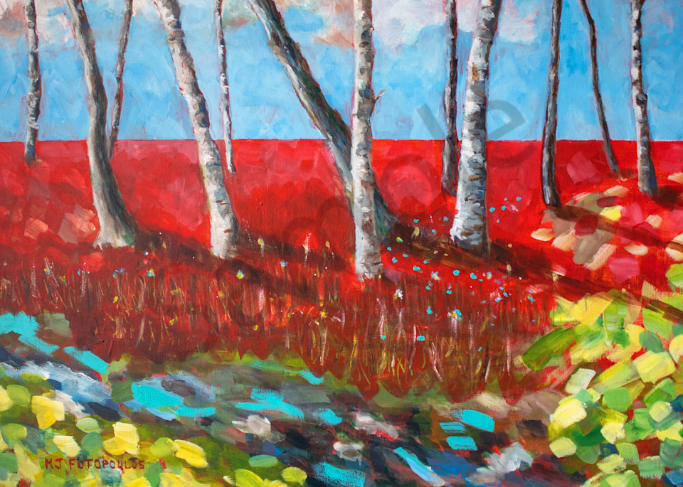 """""""Spring Birches"""" by Canadian Artist Joan Fotopoulos 