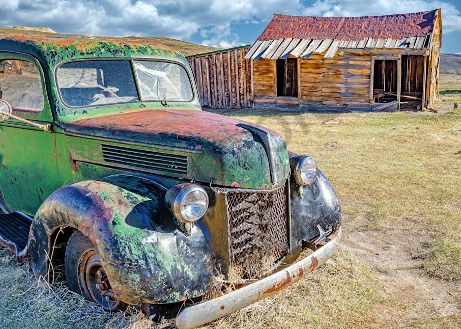 Print Art Bodie California Ghost Truck