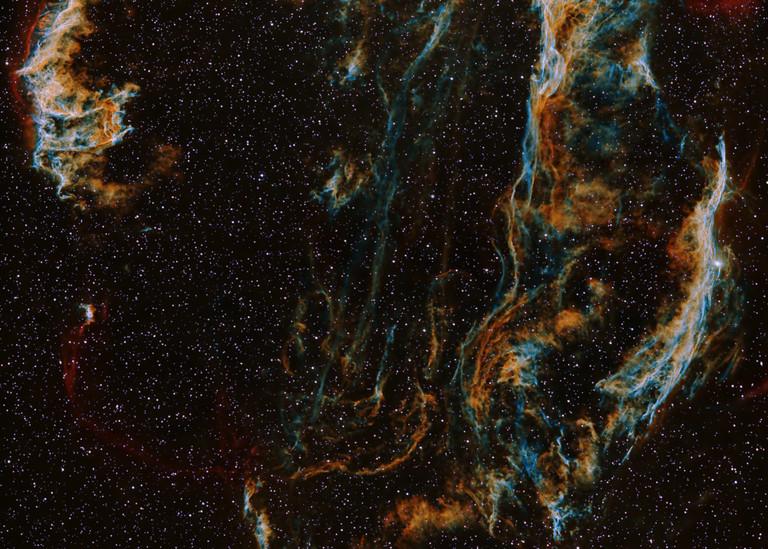 Veil Nebula Art   Dark Sky Images