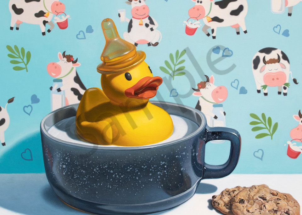 """""""Milk Duck"""" print by Kevin Grass"""