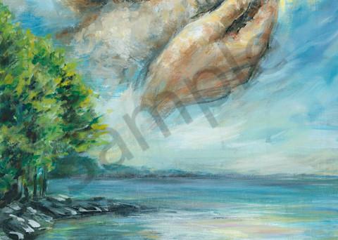 Jesus Lamb Over Water  Art | Prophetics Gallery