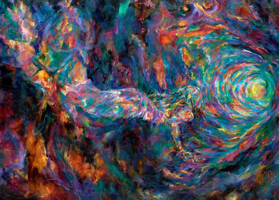 """""""Pursuing The Deep"""" by California Prophetic Artist Mary Crawford 