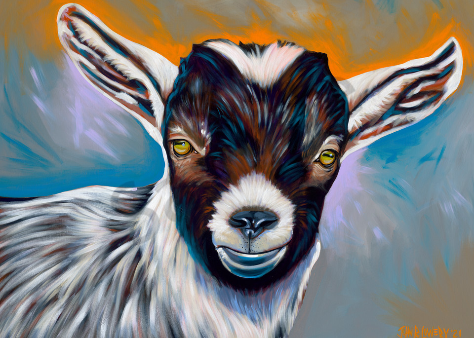 Goat paintings by artist, John R. Lowery for sale as art prints.