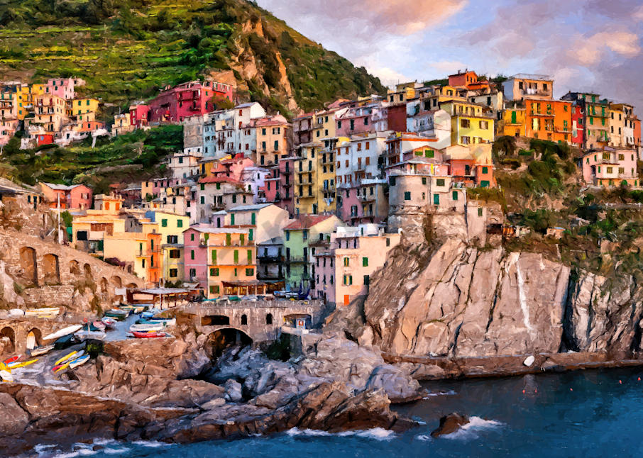 Ligurian  Sunset Photography Art | Images by Louis Cantillo